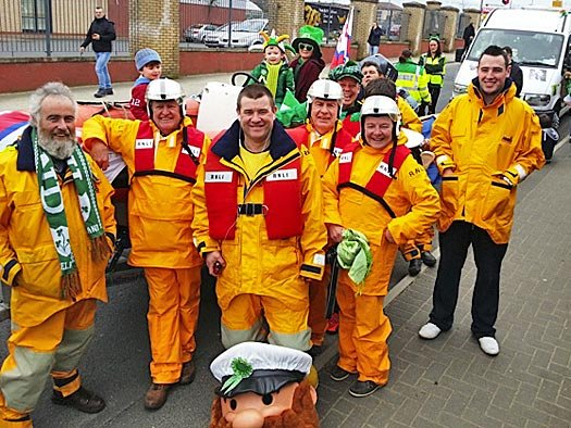 Arklow RNLI volunteers at the town's St Patrick's Day parade