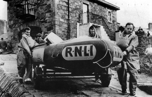 Bangor's D-Class inflatable lifeboat in 1965