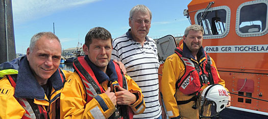 Greg Murphy with Arklow RNLI lifeboat crew