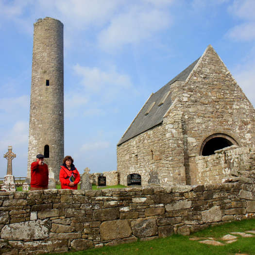 Gerard Madden and Dawn Livingstone on Holy Island