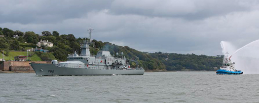 LÉ James Joyce welcomed to Cork Harbour