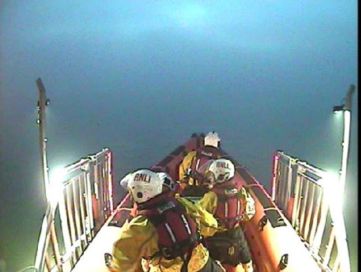 Skerries RNLI launches into fog