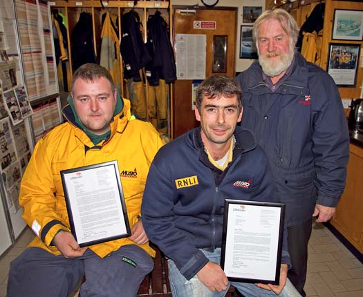 Wicklow RNLI get letters of commendation