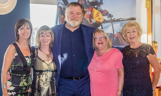 Hollywood comes to Howth Yacht Club (L-R) Maura Farrell, Anne-Marie O'Daly, Brendan Gleeson, Gerardine MacLoughlin and Maeve Derham